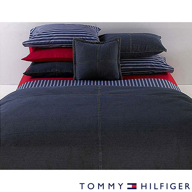 Tommy Hilfiger Twin Size All American Denim Comforter