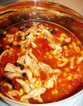 Tortilla Soup with Black Beans & Chicken | My Style | Pinterest