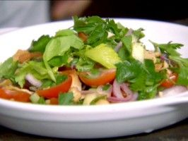 Herb & Chickpea salad. This is the other dish E made for me for VDay ...