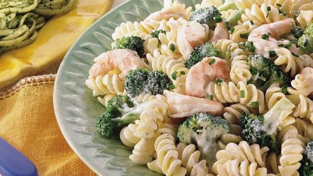 Creamy Shrimp and Broccoli Rotini. 6 oz. (2 cups) uncooked rotini ...