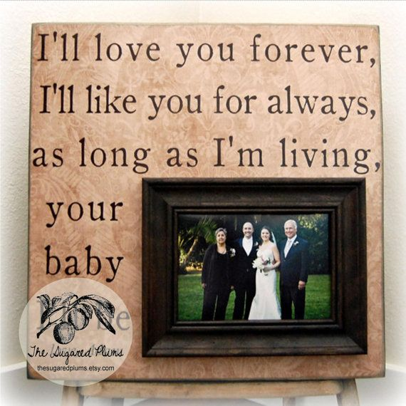 Unique Wedding Gifts Under USD75 : ... Gift Personalized 16x16 Mother Of The Bride Parents Dad Men Gift. USD75