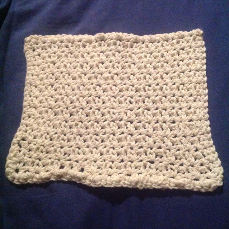 cotton washcloth grit stitch http://www.ballhanknskein ...