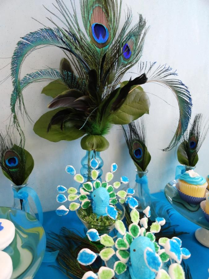 fun peacock decor MRP Pinterest