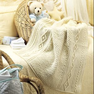 Crochet Pattern Aran Afghan : Babys Aran Afghan Crochet Pattern ePattern