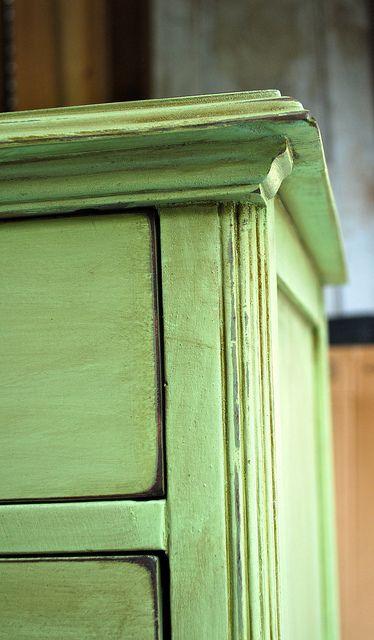 green glazed dresser by The Slipcover Girl, via Flickr