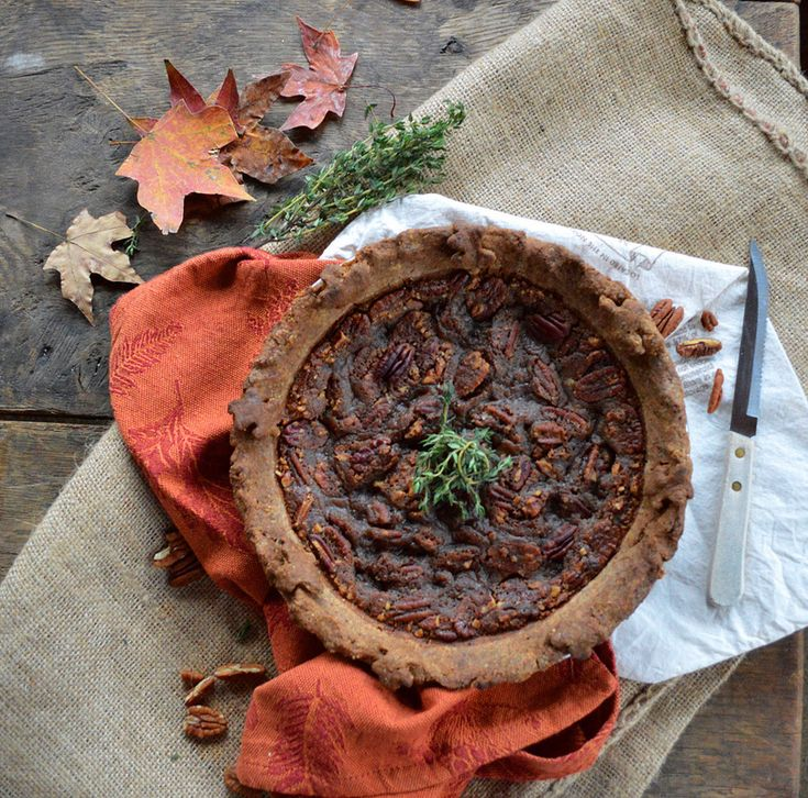 ... guests with this Classic Maple Bourbon Pecan Pie! (gluten free, vegan