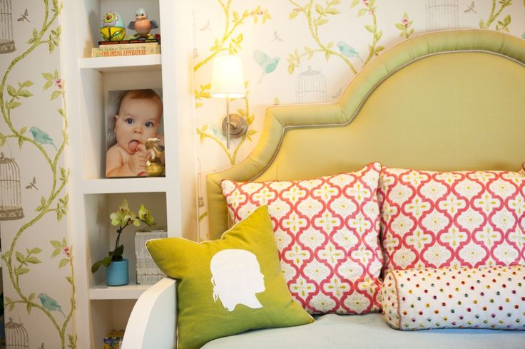 Fun Idea for Toddler Room: A reading space to cuddle and read that will eventually become their bed. How fab is this day bed?! #biggirlroom {Design by @Andrika King}
