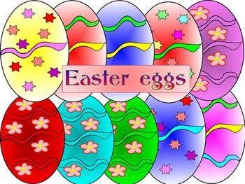 Easter Egg- Spring- puzzle- Clip Art