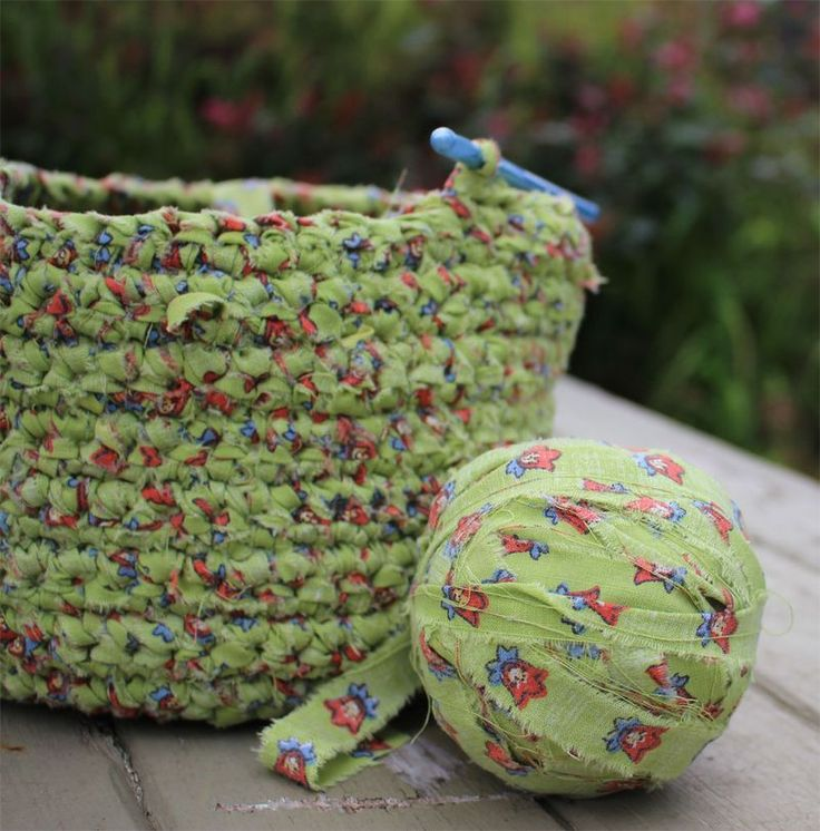 crochet fabric strips CROCHET Pinterest
