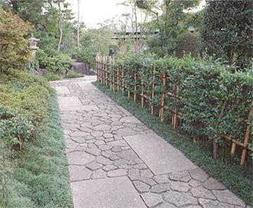 hedge bamboo fence garden paths Pinterest