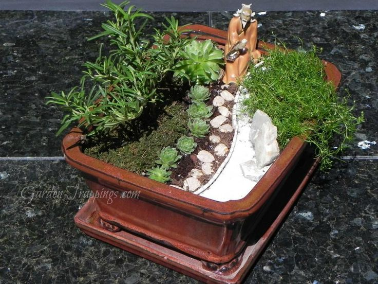 diy zen garden crafty diy recyclables pinterest. Black Bedroom Furniture Sets. Home Design Ideas