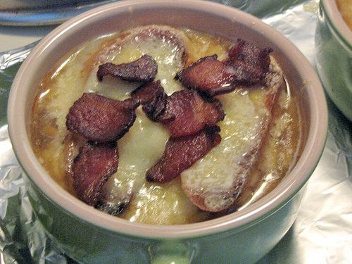 and bacon video onion and bacon soup martha stewart caramelized onion ...