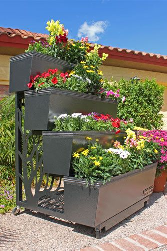 Mobile gro portable four tiered planter horticulture for Portable vegetable garden