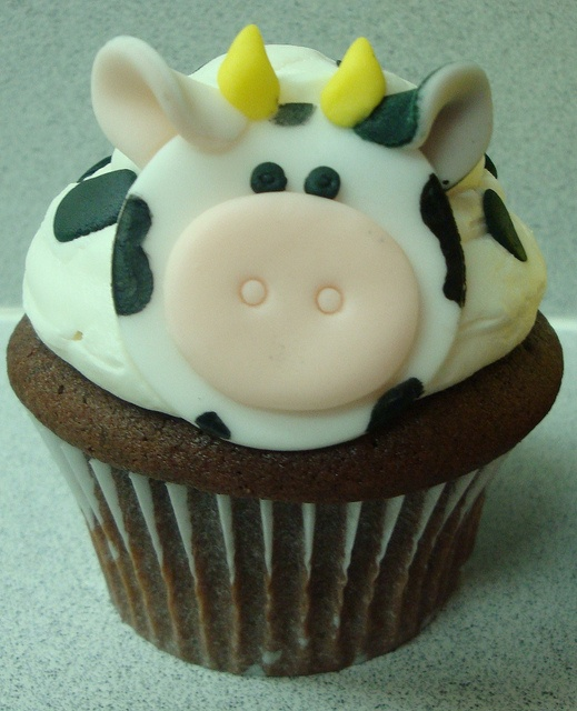 Cow cupcake My Art, My Passion, My Creations Pinterest
