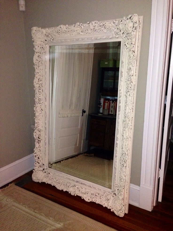 Leaning large mirror mirror mirror on my wall pinterest for Floor mirror italian baroque rococo style in lacquer finish