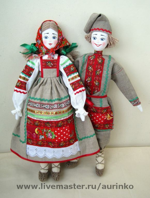 Куклы в народных костюмах своими руками из ткани 33