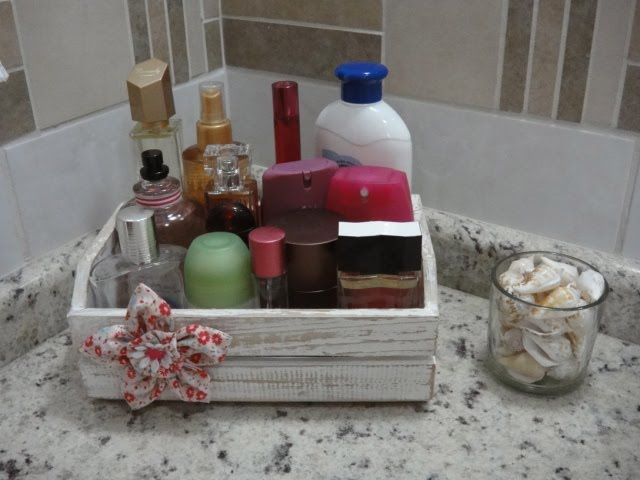 reciclando mini caixa de feira