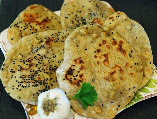 Garlic Cilantro and Green Chile Naan via http://www ...