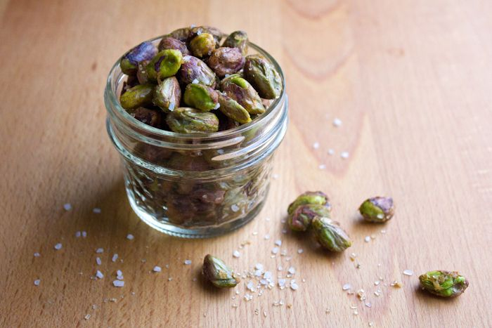 Sweet and salty bourbon-maple pistachios | Snacks | Pinterest