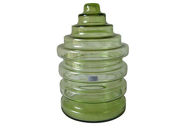 Green beehive lidded cookie jar - Beehive cookie jar ...