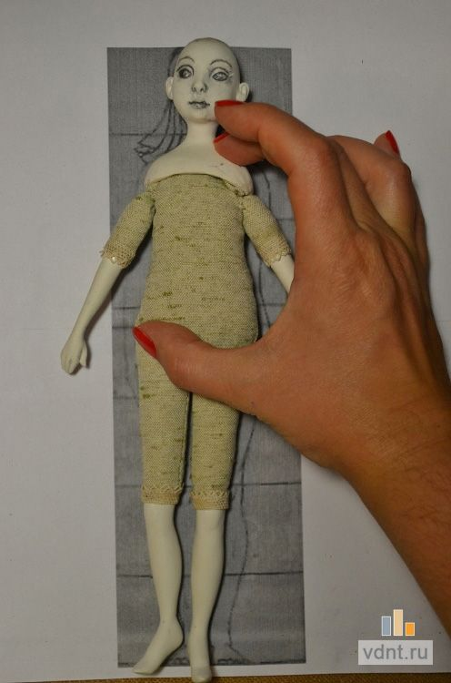 Куклы из глины мастер класс