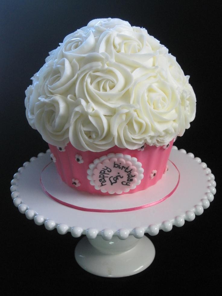 Giant cupcake cake Birthday party ideas Pinterest