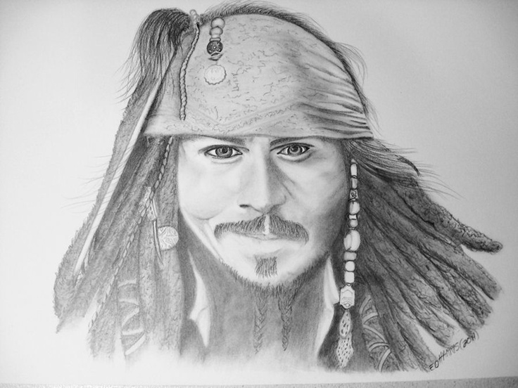 pencil drawing.  Oh, Johnny......he's the man.