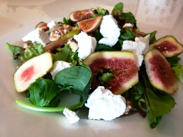 Walnut, Fig and Goat's Cheese Salad (+Bonus Fig and Proscuitto Pizza ...