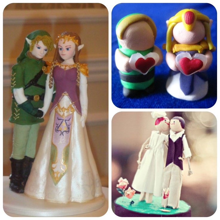 Zelda and Link wedding cake toppersZelda And Link Wedding
