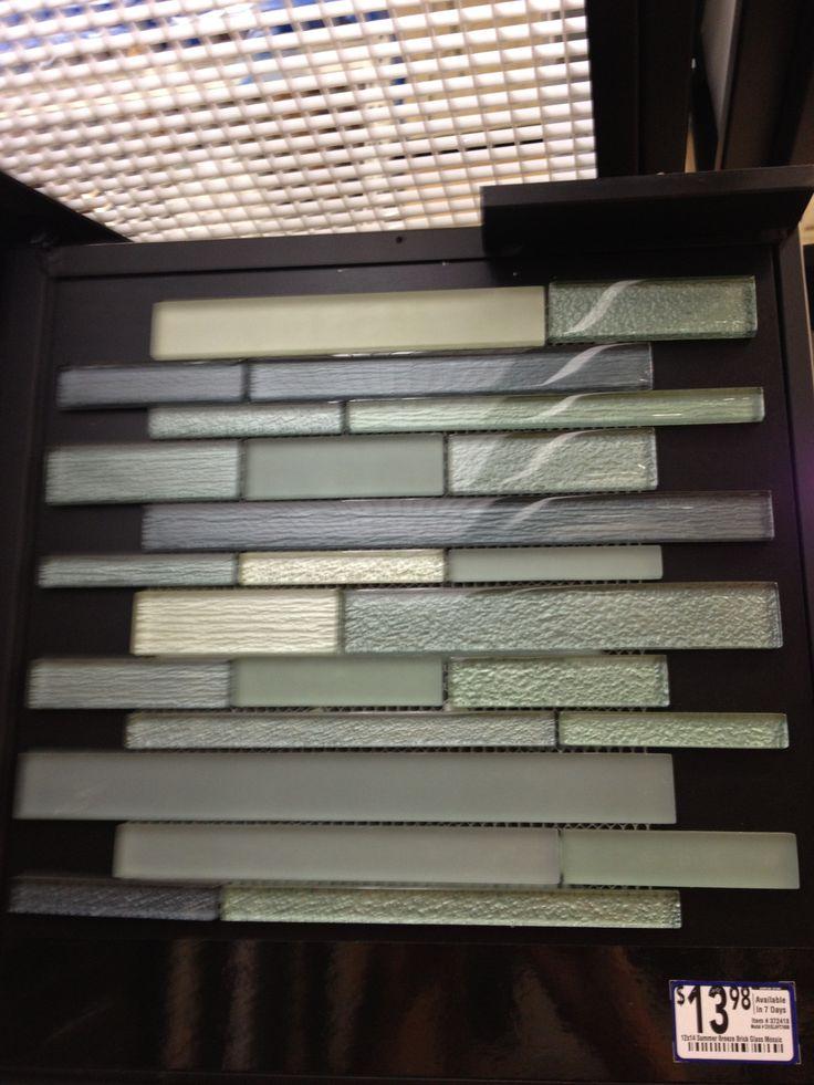 kitchen backsplash tile at lowes with blue teal notes