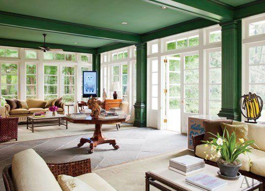 Paint color portfolio emerald green living rooms - Green paint colors for living room ...