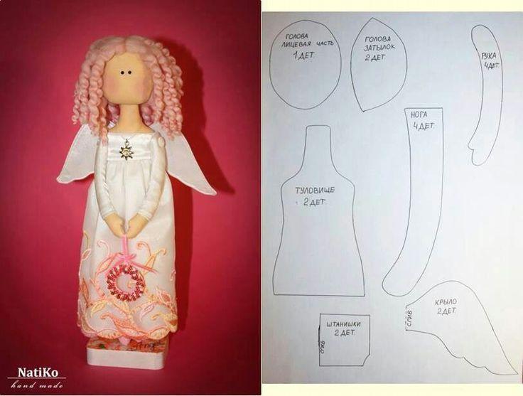 Выкройка куклы ангела своими руками 91