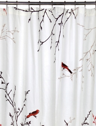 Jcpenney Double Curtain Rods Shower Curtains with Swans