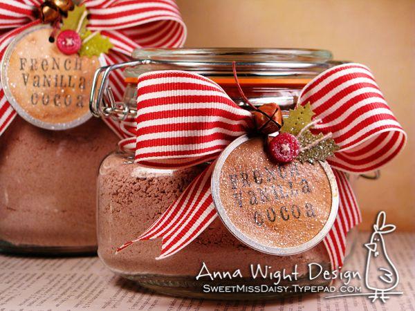 Hot Cocoa Mix Gift Jars | Celebrate: Christmas Eat n' Treats! | Pinte ...