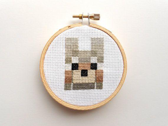 Minecraft Wolf Cross Stitch