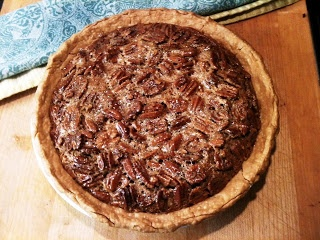 Brown Butter and Rum Pecan Pie with Rum Whipped Cream