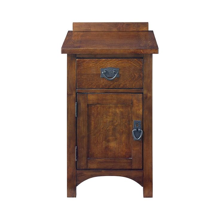 Grove Park Bedside Cabinet by Bassett -- sale: $499 -- Mission/Craftsman/Prairie Style Bedroom Furniture