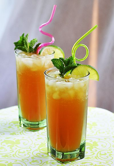 sparkling mint-lime iced tea. #takeyaicedtea