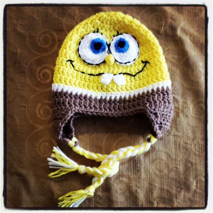 Free Crochet Pattern Spongebob Hat : Sponge bob crochet beanie Crochet + knit Pinterest