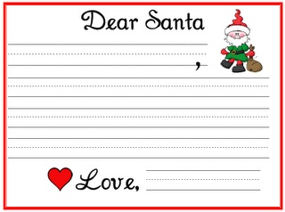 Two Fulbright Hugs ~ Teacher Time Savers: Dear Santa Lined Paper