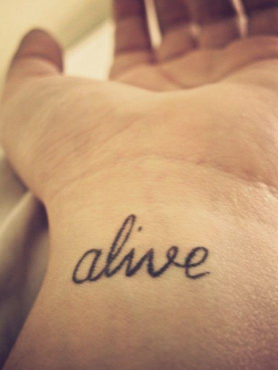 40 inspiring one word tattoo ideas tattoos x pinterest. Black Bedroom Furniture Sets. Home Design Ideas