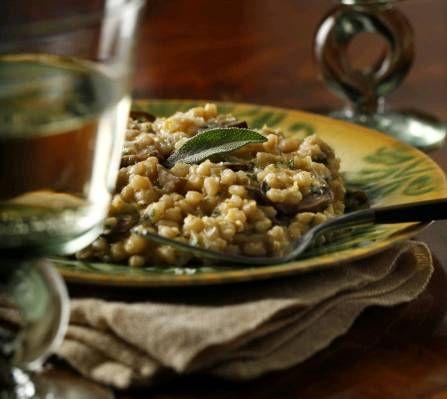 Emeril's slow-cooker mushroom and fall squash barley risotto