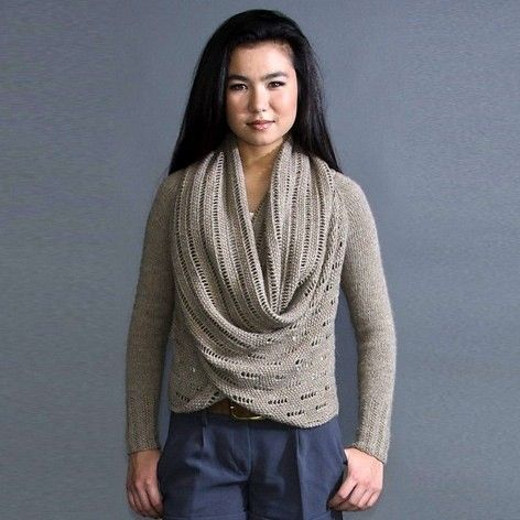 Knitting Pattern For Cardigan With Shawl Collar : Pam Powers Setsuko Shawl Collar Cardigan Knitting Pattern