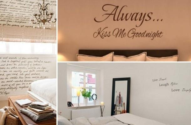 Teksten Voor Op Slaapkamer Muur : leuke muur teksten kalligrafie ...