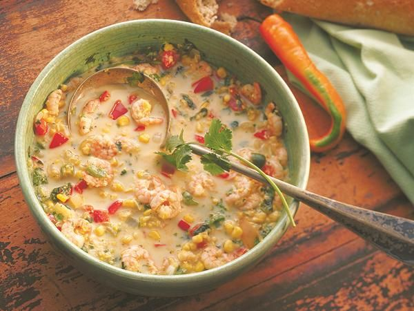 Southwest Shrimp Stew http://www.prevention.com/food/healthy-recipes/comforting-stews-and-soups-satisfy?s=18