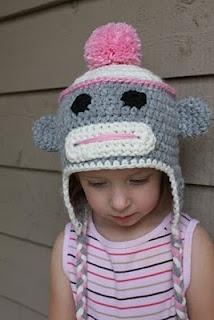 Sock Monkey Hat Pattern Knit/crochet childrens hats ...