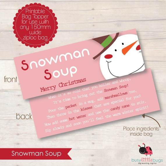 Snowman Soup - Great gift idea for young children - I know mine will ...