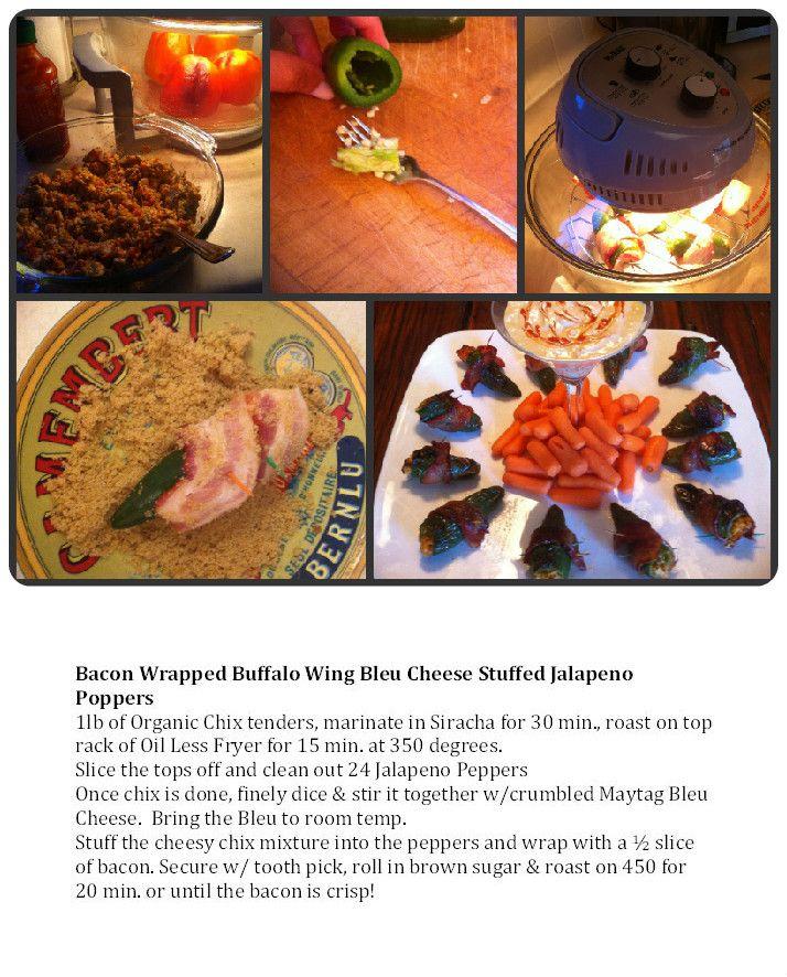 Kimberly's Bacon Wrapped Buffalo Wing Bleu Cheese Stuffed Jalapeno ...
