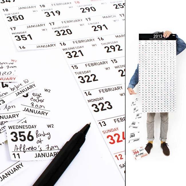 """Calendario recortable """"Carpe Diem"""" 2013"""