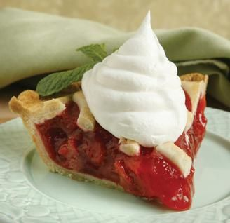 Lattice-Topped Strawberry-Rhubarb Pie | Desserts & Pastries | Pintere ...